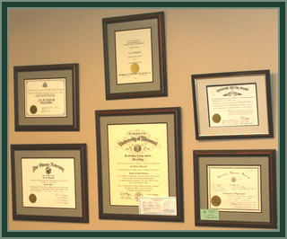 Dr. Woodruff's Certificates & Validations